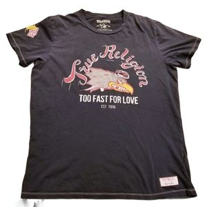 True Religion Too Fast For Love Graphic Art Shirt